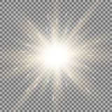 Shining star on transparent background, golden color Stock Photography