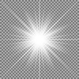 Shining star on transparent background. Stock Photos