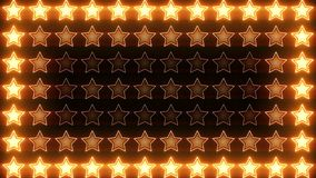 Shining Stars Block Orange Loop stock video