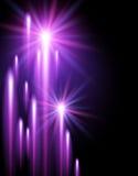 Shining stars and neon strips. Glowing background with shining stars and neon strips Stock Photography
