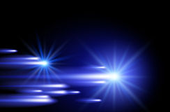 Shining stars and neon strips Royalty Free Stock Photo
