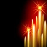 Shining stars and neon strips. Glowing background with shining stars and neon strips Royalty Free Stock Photo