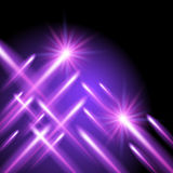 Shining stars and neon strips Royalty Free Stock Photography