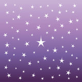 Shining Stars on the Night Sky. Suitable for textile, fabric, packaging and web design Stock Photography