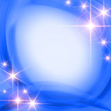 Shining stars over blue background Royalty Free Stock Photos