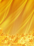 Shining stars over golden background Stock Photo
