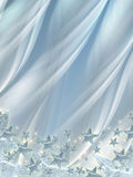 Shining stars over silver background Stock Photography