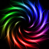 Shining stars, rainbow lights like spiral Stock Images