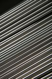 Shining Steel Pipes. Abstract background of small steel pipes in close up royalty free stock images