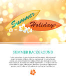 Shining summer paradise holidays background with. Blurred bokeh lights and place for text. Vector illustration vector illustration