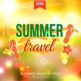 Shining summer travel typographical background Stock Photos
