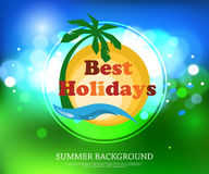 Shining summer typographical background with. Blurred bokeh lights and place for text. Vector illustration vector illustration