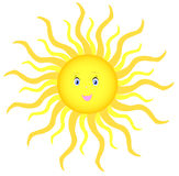 Shining sun Royalty Free Stock Photos