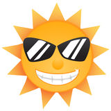 Shining Sun. With Smile Teeth Stock Photography