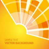 Shining sun. Abstract shining sun on yellow background. Vector illustration Royalty Free Stock Photography