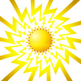 Shining sun in arrow zigzag circle vector Royalty Free Stock Photography
