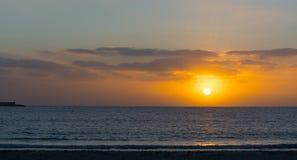 Shining sun over Alghero harbor Stock Images