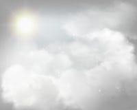 Shining sun. Vector illustration. Royalty Free Stock Image