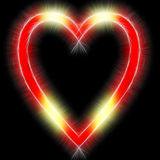 Shiny neon love heart Royalty Free Stock Image