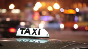 Shining Taxi inscription stock video