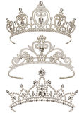 Shining Tiaras Set Royalty Free Stock Photography