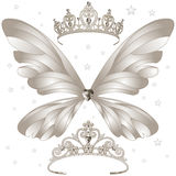 Shining Tiaras Set Stock Images