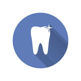 Shining tooth. Abstract background Royalty Free Stock Images