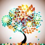 Shining Tree Royalty Free Stock Image