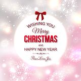 Shining typographical christmas background. Stock Photos