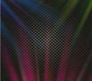 Shining vector colorful light effects, glowing beams on checkered background, illumination vector illustration Stock Images