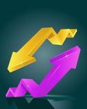 Shining vector diagram Royalty Free Stock Photos