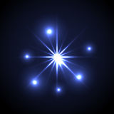 Shining vector star illustration. Glow spot radiance. vector illustration