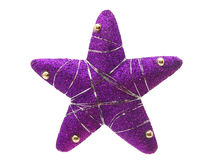Shining violet christmas star Royalty Free Stock Images