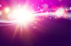 Shining violet flow. Stock Image