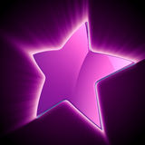 Shining violet star Stock Photos