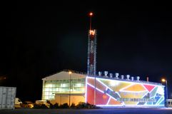 Shining warehouse in Sochi, Russia Royalty Free Stock Image