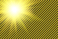 Shining warning black and yellow diagonal lines Stock Photography