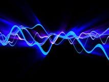 Shining waves vector illustration