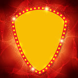 Shining waves background with retro casino light banner Royalty Free Stock Images