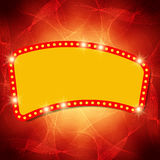 Shining waves background with retro casino light banner Stock Photos