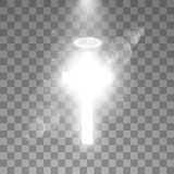 Shining white cross and white halo angel ring and sunlight special lens flare light effect on transparent background. Glowing saint cross. Vector illustration vector illustration