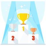 Shining winner podium Stock Image