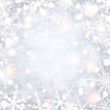 Shining winter background with snowflakes. Shining winter background with snowflakes pattern. Vector illustration Stock Image