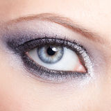 Shining woman eyes makeup Royalty Free Stock Photos