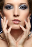 Shining woman face makeup Royalty Free Stock Photography