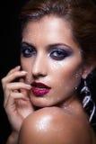 Shining woman face makeup Royalty Free Stock Image