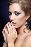 Shining woman face makeup Stock Photography