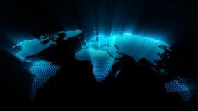 Shining world map Royalty Free Stock Photography