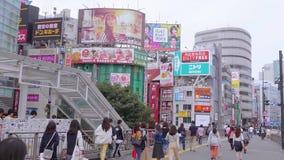 Shinjuku - занятый район в Токио - ТОКИО, ЯПОНИЯ - 17-ОЕ ИЮНЯ 2018 видеоматериал