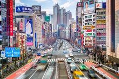 Shinjuku, εικονική παράσταση πόλης του Τόκιο στοκ εικόνες